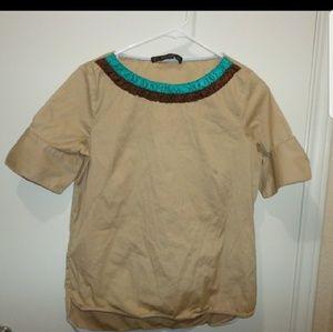 Medium Zara Basic blouse boho chic